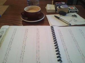 Photo of my mnemonic system worksheets