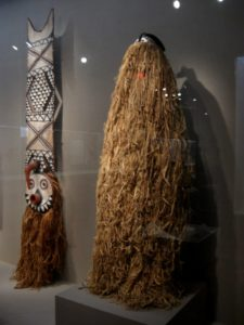 A raffia costume from Burkina Faso