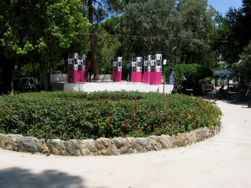 Stage in the park