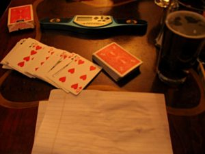 Speed cards at the bar