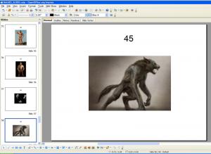 Slides of mnemonic images