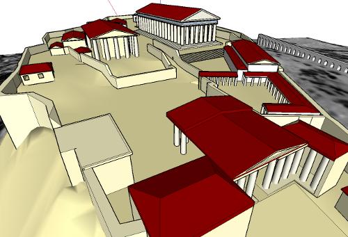 Acropolis, Google Sketchup